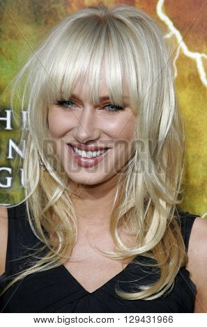 Kimberly Stewart at the Los Angeles premiere of 'The Reaping' held at the Mann Village Theater in Westwood, USA on March 29, 2007.