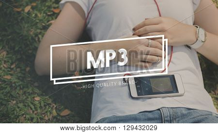 MP3 Audio Digital Entertainment Listening Play Concept