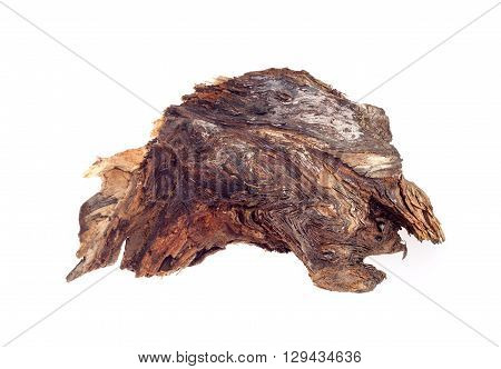 wood snag on a white background isolated