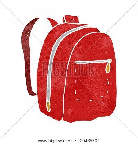 freehand retro cartoon rucksack