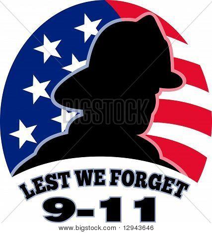 9 11 US-amerikanischer Feuerwehrmann