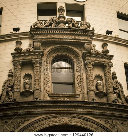 Details of an ornate window in buenos aires