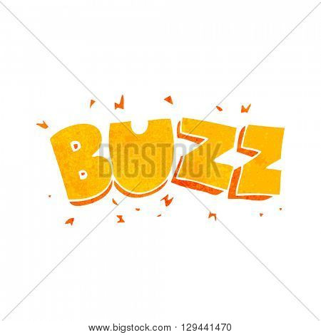 freehand retro cartoon buzz symbol