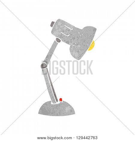 freehand retro cartoon desk lamp