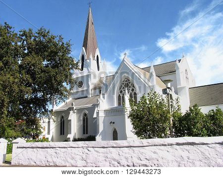 Beautiful church in Stellenbosch Cape Town South Africa
