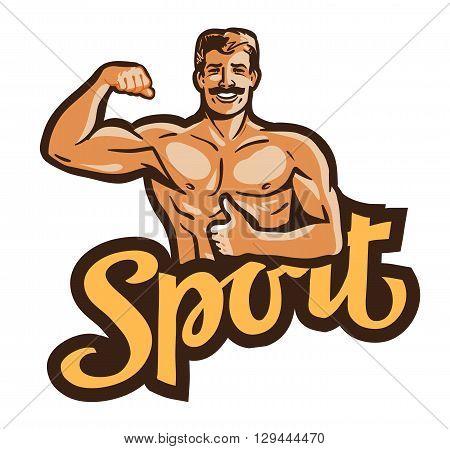 sport vector logo. gym or bodybuilding icon