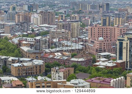 Yerevan, Armenia - May 02, 2016: View From Cascade Which Is Giant Stairway And One Of Main Landmarks