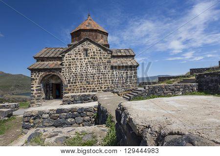 Medieval Church On Sevan Lake, Armenia