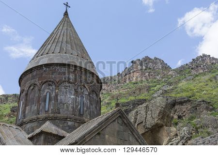 Monastery Of Geghard, Unique Architectural Construction In The Kotayk Province Of Armenia. Unesco Wo