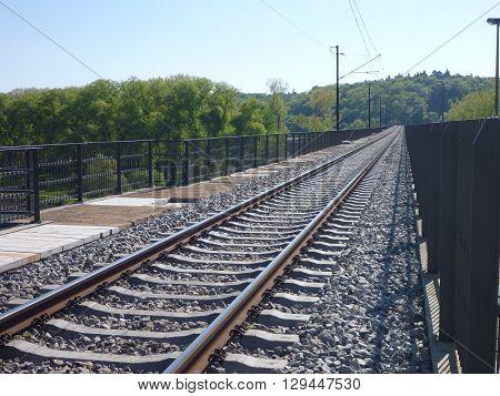 Train Railway With An Empty Track