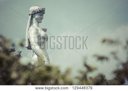 Tbilisi, Georgia - May 07: Famous Mother Georgia Statue In Tbilisi, Georgia On May 07, 2016