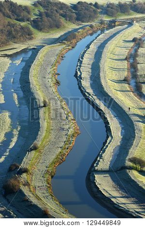 Cuckmere river East Sussex on a frosty winter's morning