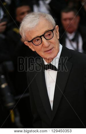 Woody Allen attends the 'Cafe Society' premiere and the Opening Night Gala during the 69th Cannes Film Festival at the Palais des Festivals on May 11, 2016 in Cannes, France.
