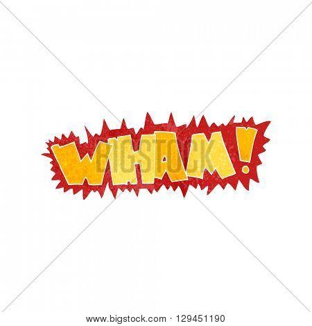 freehand retro cartoon wham! symbol