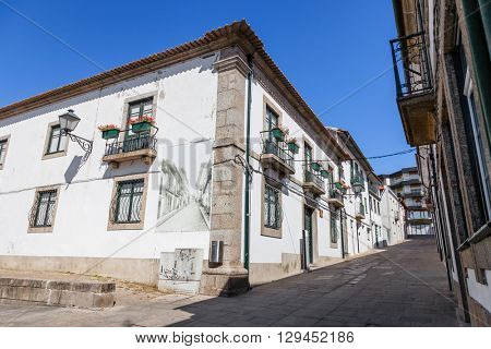 Vila Nova de Famalicao, Portugal. September 06, 2015: Casa da Cultura (Culture House) of Vila Nova de Famalicao. Braga, Portugal.