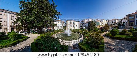 Castelo de Vide, Portugal - August 30, 2015: Panorama of Goncalo Eanes de Abreu Garden in Castelo de Vide, Portalegre, Alto Alentejo, Portugal.
