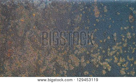 Unpainted rusty steel surface. metal wall without paint