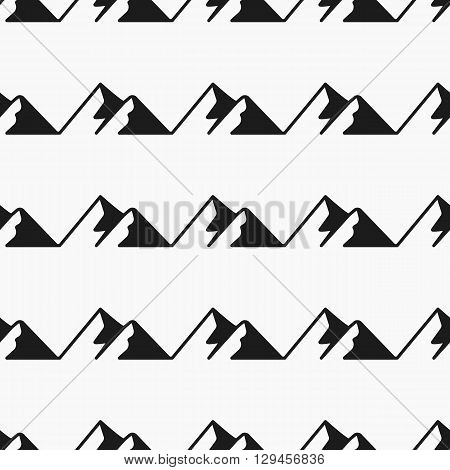 Mountains seamless pattern. Tourism vector, pattern Swatches. Endless texture can be used for wallpaper, pattern fills, web page, surface.