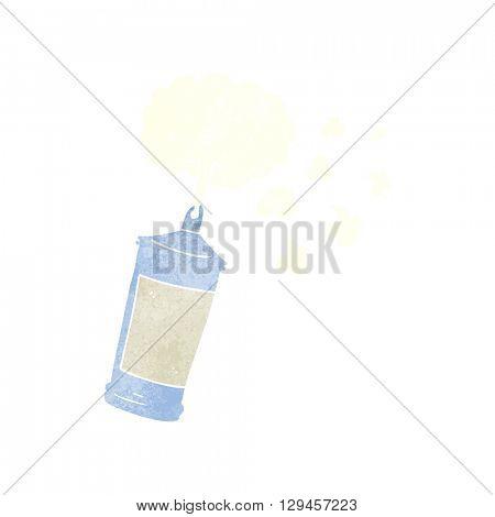 freehand retro cartoon spraying whipped cream