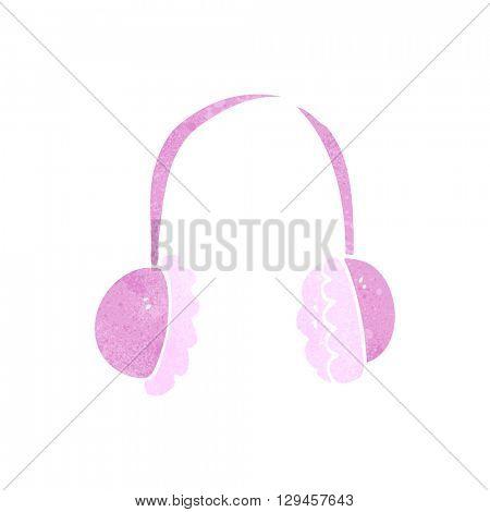 freehand retro cartoon ear muffs