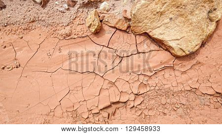 Dried Mud, Drought And Arid Ground Concept