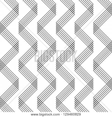 Seamless Zig Zag Pattern. Abstract  Monochrome Chevron Background. Vector Regular Texture