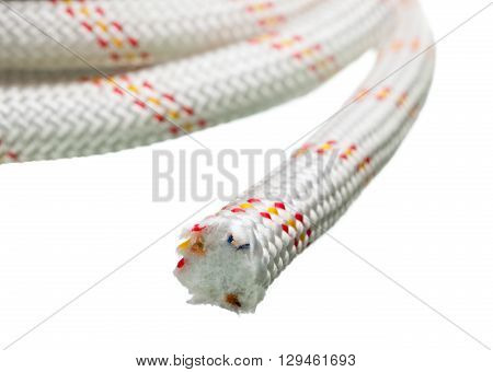 Cut End Of Thick Rope
