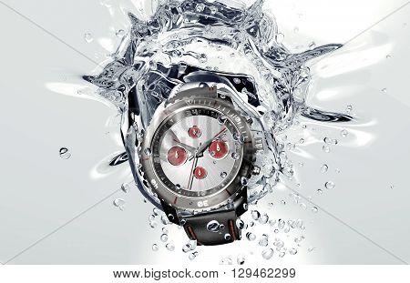 Beautifull Watch Falling In Water