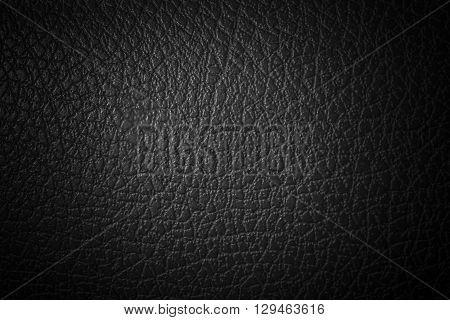 Black and grainy texture of synthetic leather.