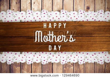 mothers day greeting written on a plank of wooden planks