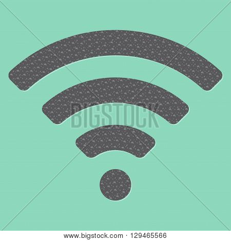 Wireless and wifi icon or sign for remote internet access. Podcast vector symbol.