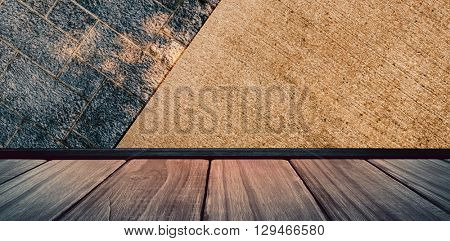 Image of a wooden floor against grey