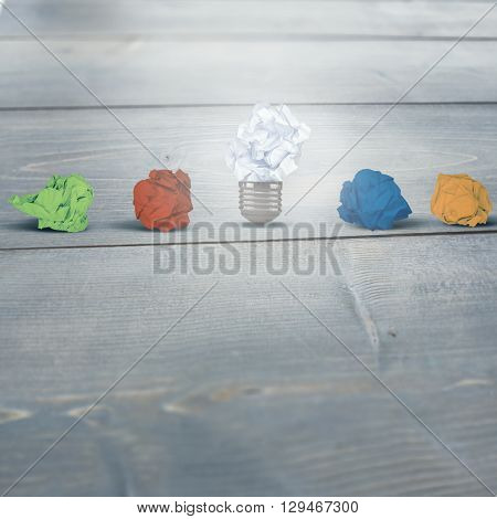 Used tissues against bleached wooden planks background