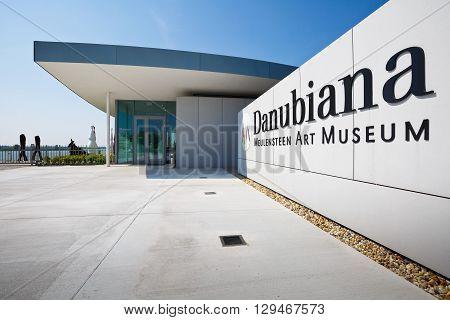 BRATISLAVA, SLOVAKIA - MAY 06, 2016: Danubiana museum of modern art by the river Danube in Bratislava, Slovakia on May 06, 2016.