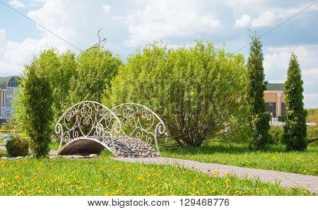 The Openwork bridge in the  city park