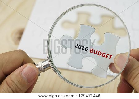 White Puzzle With Word Budget And 2016.