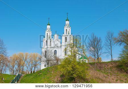 Saint Sophia Cathedral in Polotsk in Belarus, built in Vilna Baroque