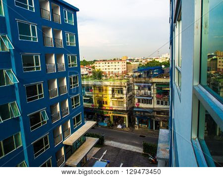 New Residential Condominium Building Modern building industry