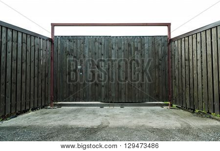 Gray Wooden Gate In The Village