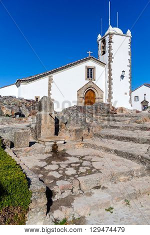 Santiago church in Marvao. Portalegre District, Alto Alentejo, Portugal. Marvao was a candidate to World Heritage Site by UNESCO.