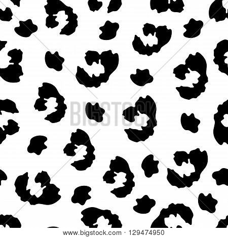 Leopard seamless pattern. Leopard skin. Vector background.