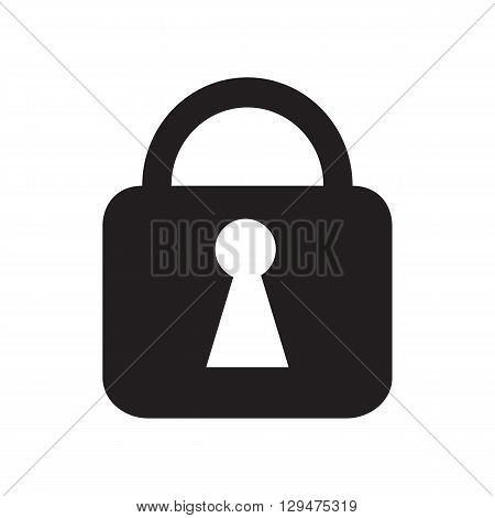 Lock symbol for security such as internet security technology