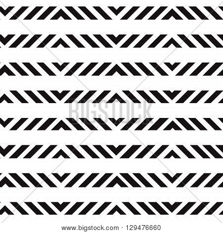 Simple geometric abstract black and white seamless vector print