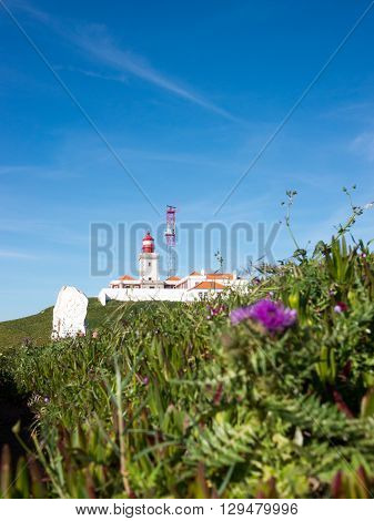 A lighthouse in Cabo da Roca Portugal