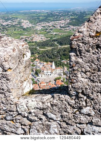 Sintra From The Castle Of The Moors