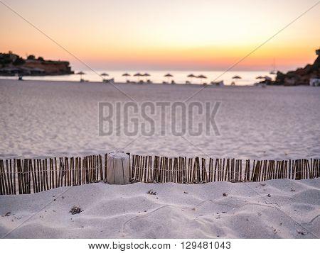 Sand Wall In Cala Saona, Formentera