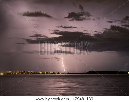 A Storm in South Beach, Miami, Florida