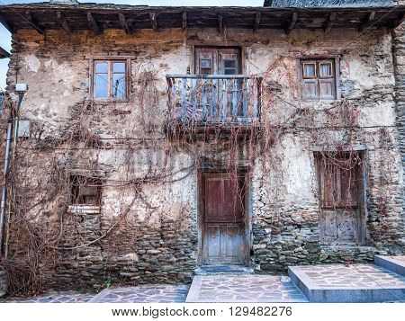 An old and abandoned house in the village of Tirvia Catalonia Spain