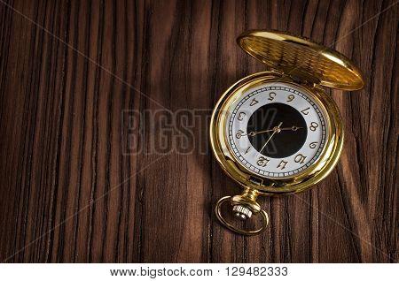 Retro Gold Pocket Watch