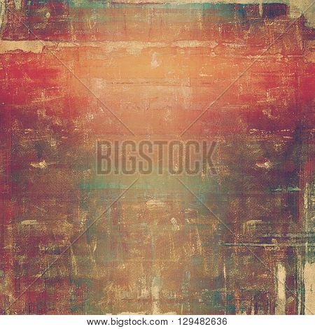 Grunge background or texture with vintage frame design and different color patterns: yellow (beige); brown; red (orange); purple (violet); pink; cyan